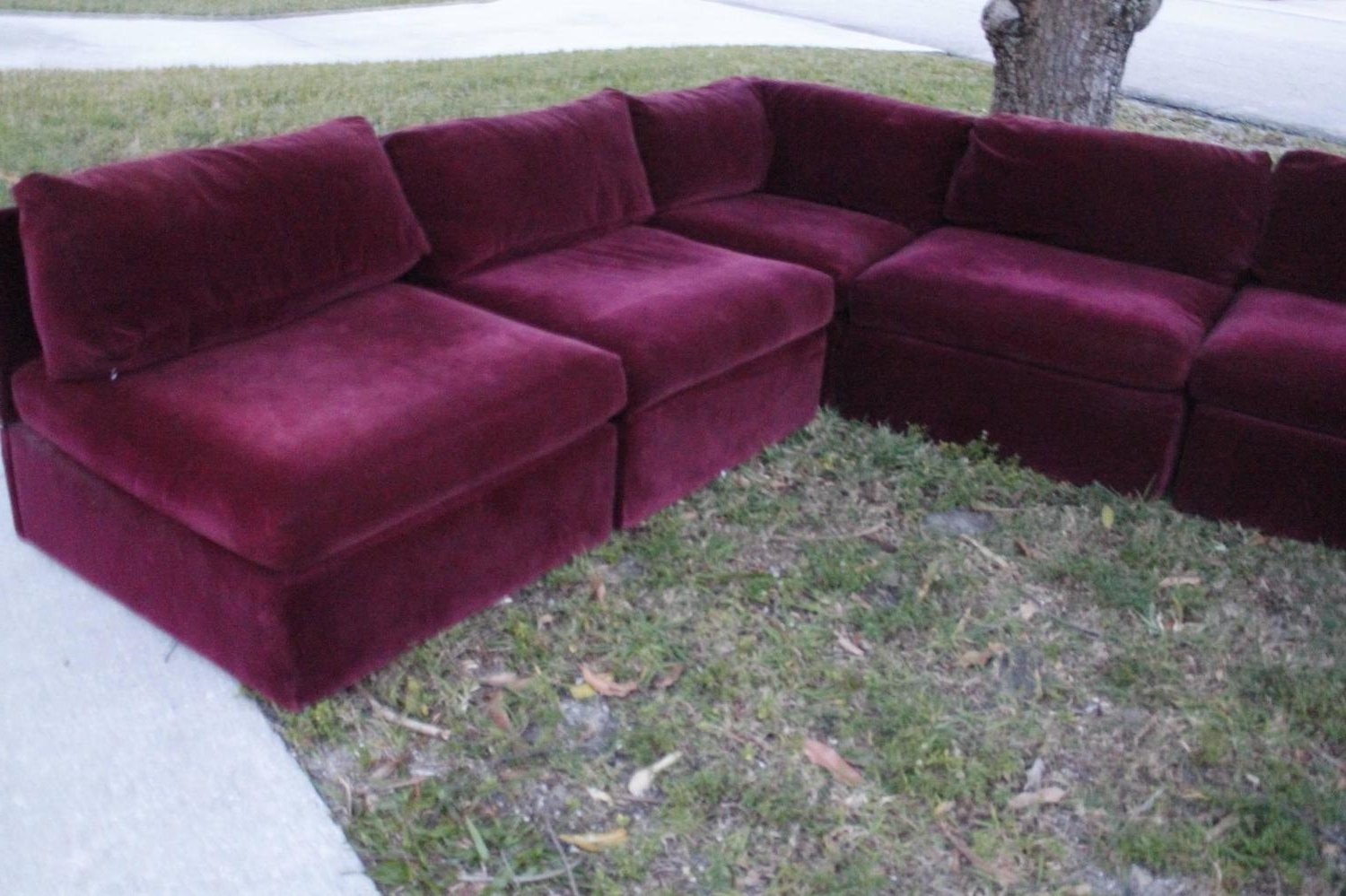 Vintage Sectional Sofas throughout Favorite Milo Baughman For Thayer Coggin Tagged Nine Piece Sectional Sofa