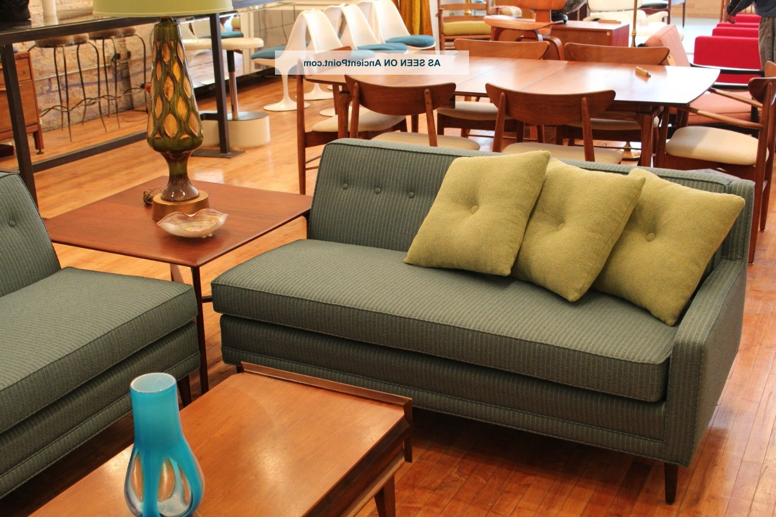 Vintage Sectional Sofas within Well-known Vintage Pin - Striped Mid Century Mod Sectional Sofa Milo Baughman