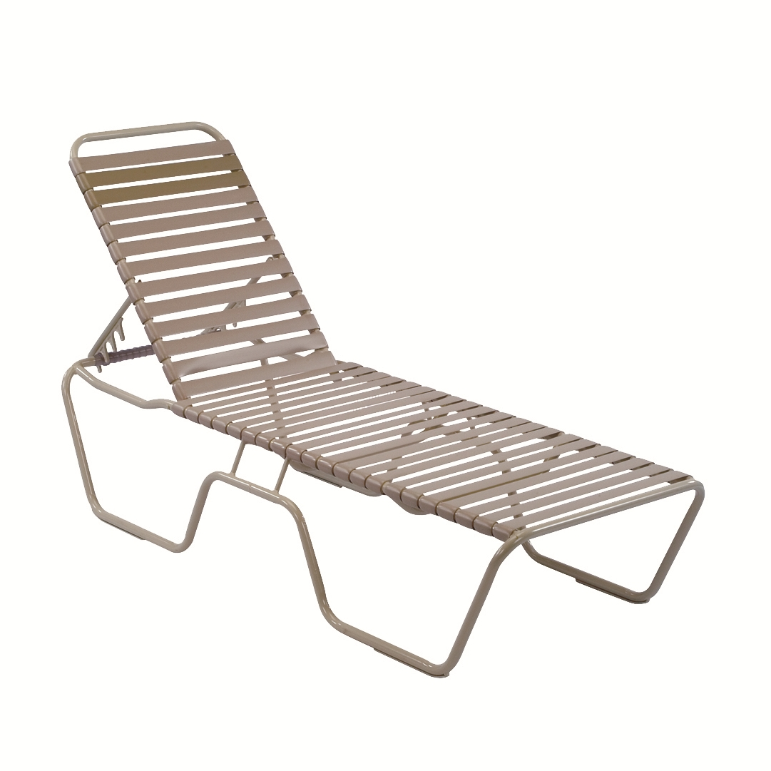 Vinyl Chaise Lounge Chairs in Popular 14.5 In. Seat Country Club Aluminum Vinyl Strap Chaise Lounge