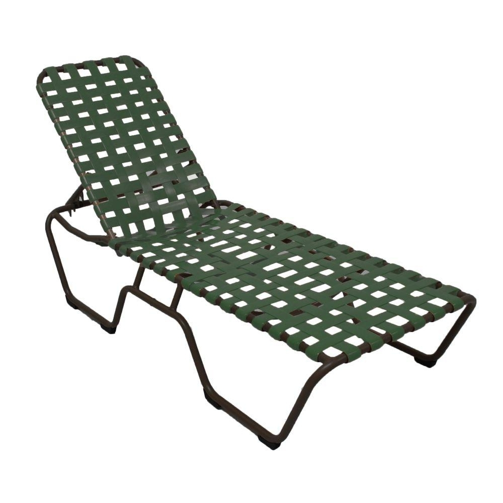 Vinyl Strap Chaise Lounge Chairs In 2018 Marco Island Dark Cafe Brown Commercial Grade Aluminum Patio (View 5 of 15)