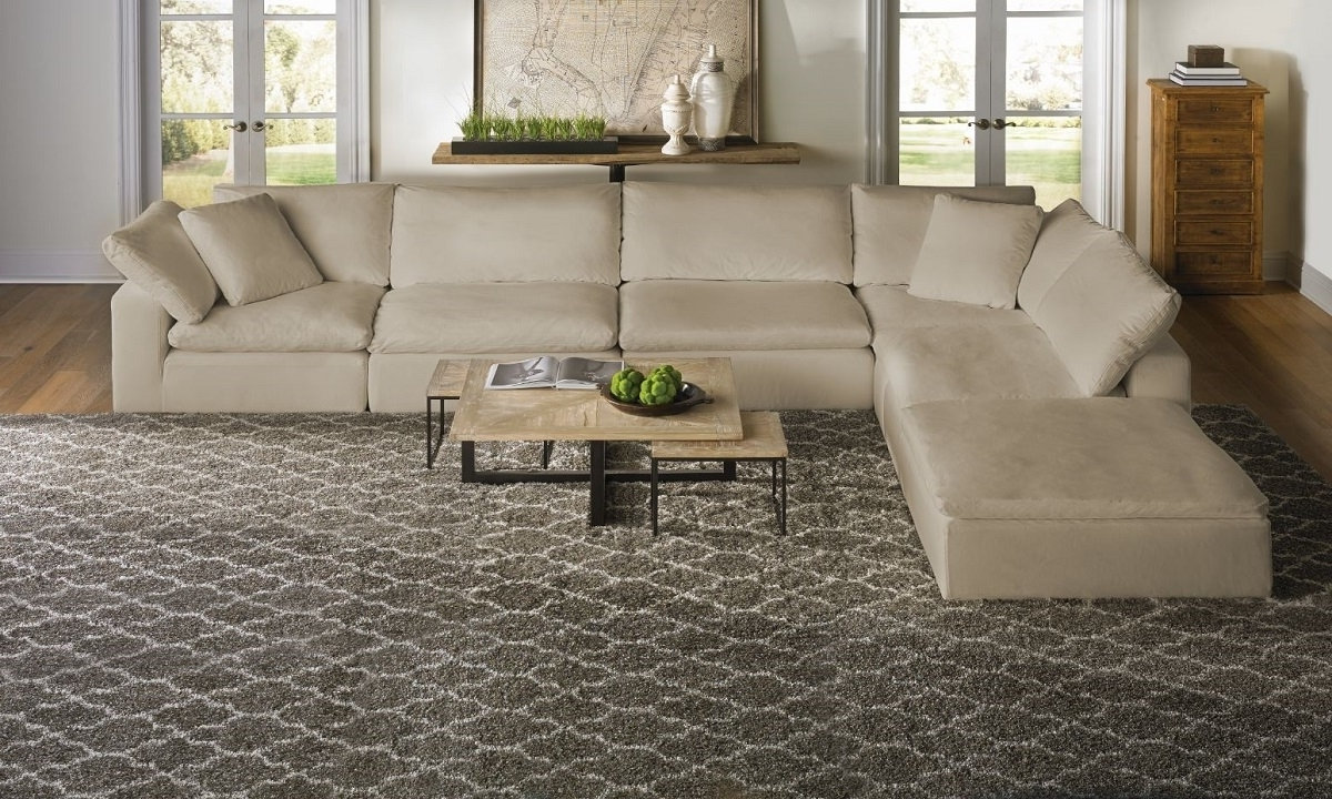 Virginia Beach Sectional Sofas For Fashionable Luxe Modular Slipcover Sectional (View 9 of 15)