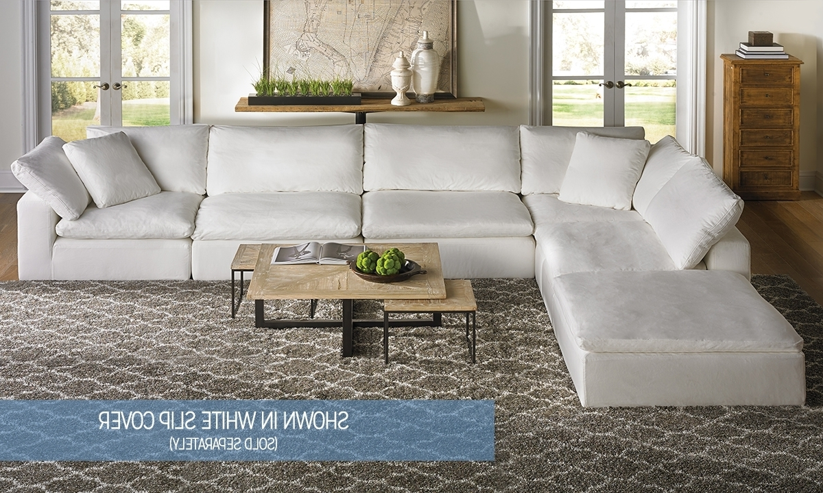 Virginia Beach Sectional Sofas With Well Known Luxe Modular Slipcover Sectional (View 13 of 15)