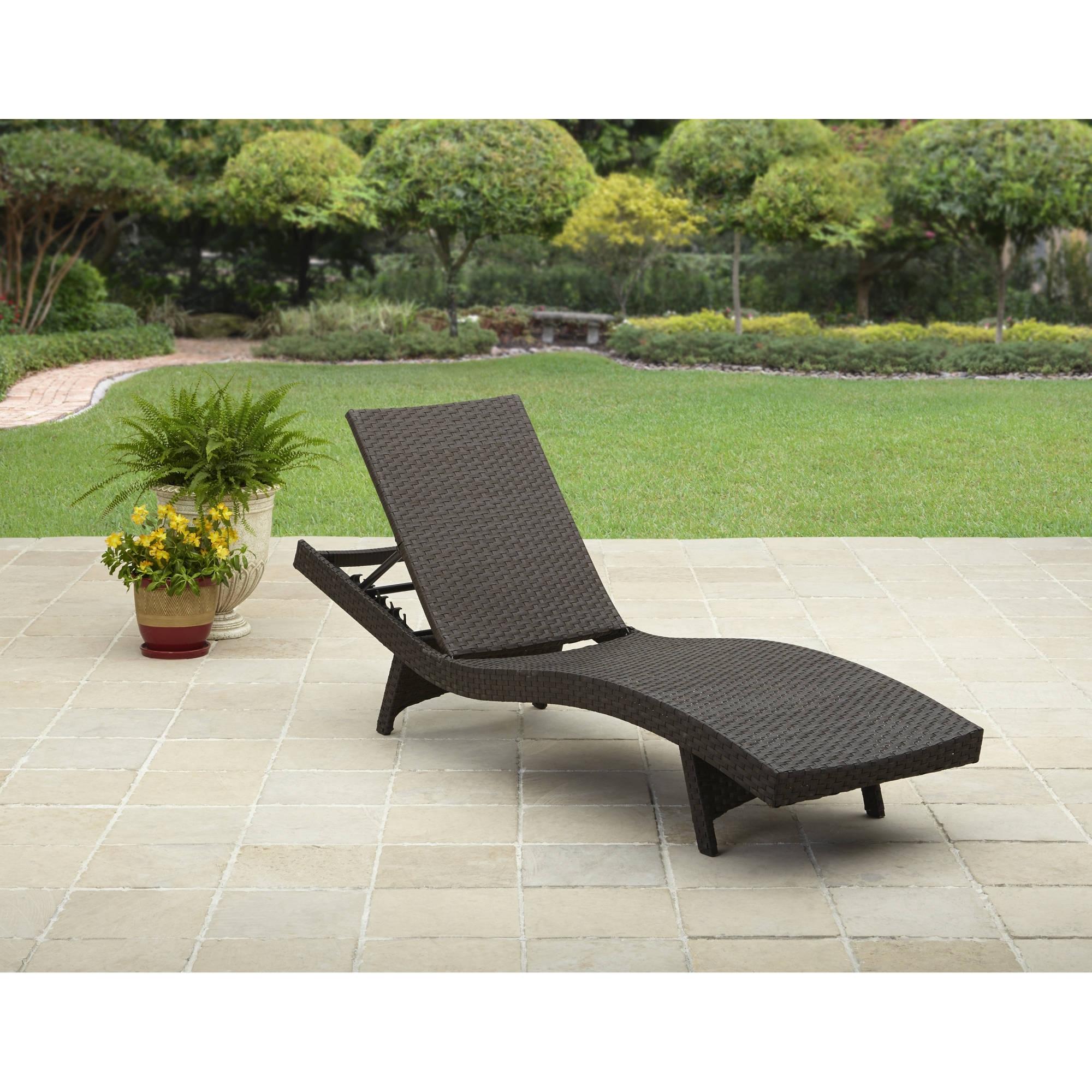 Walmart Chaise Lounge Cushions Regarding Latest Better Homes And Gardens Avila Beach Chaise – Walmart (View 7 of 15)