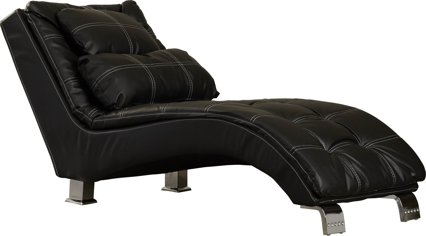 Wayfair Throughout Trendy Black Leather Chaise Lounges (View 13 of 15)