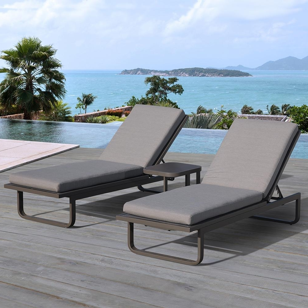 Web Chaise Lounge Lawn Chairs In Famous Ove Decors Vienna 2 Piece Aluminum Outdoor Chaise Lounge With Gray (View 13 of 15)