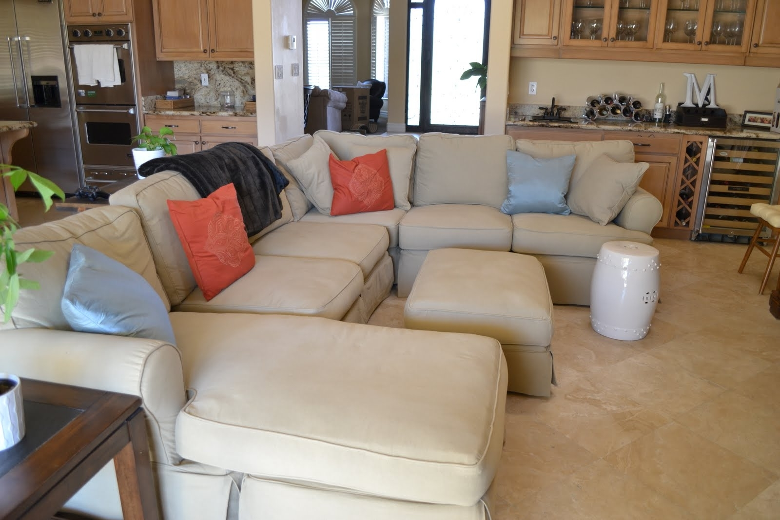 Well Known 3 Piece Sectional Slipcovers — Cabinets, Beds, Sofas And For Slipcovered Sofas With Chaise (View 14 of 15)