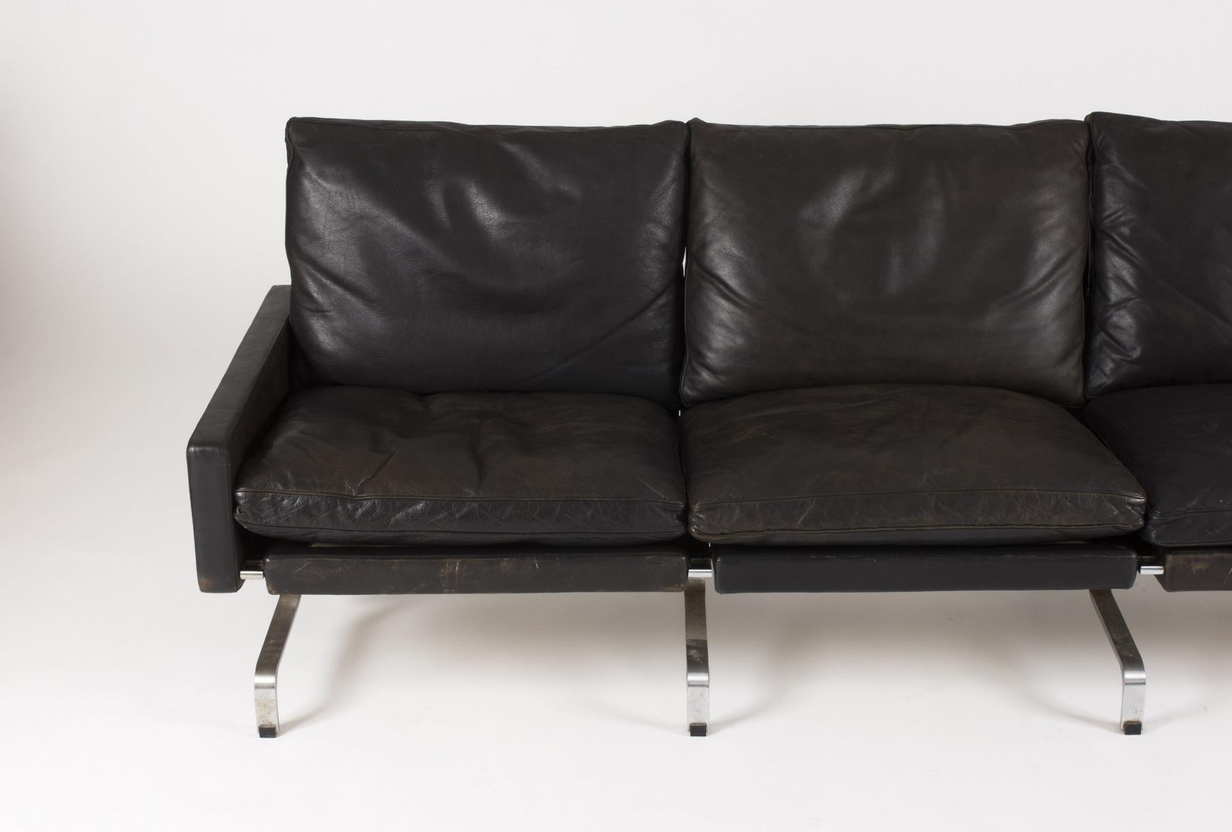 Well Known 3 Seater Leather Sofas With Regard To Pk 31 3 Seater Leather Sofapoul Kjaerholm For E (View 13 of 15)