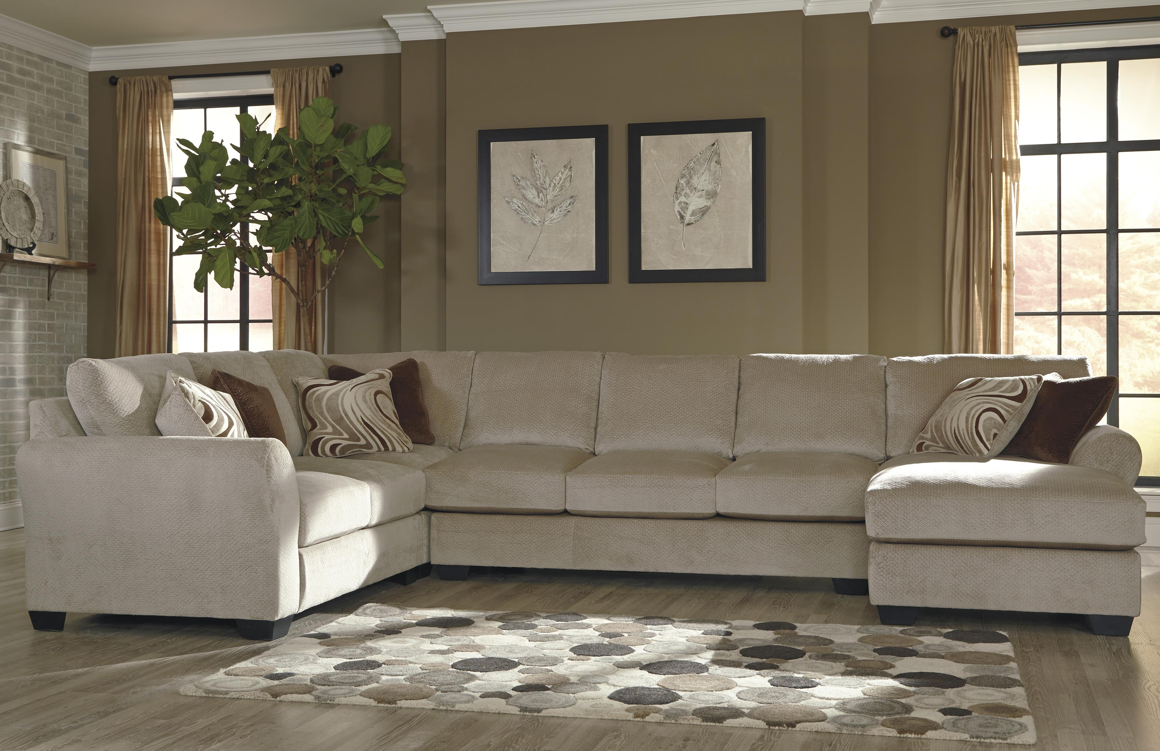 Well Known 4 Piece Sectional W/ Armless Sofa & Left Chaisebenchcraft Regarding 4 Piece Sectional Sofas With Chaise (View 12 of 15)