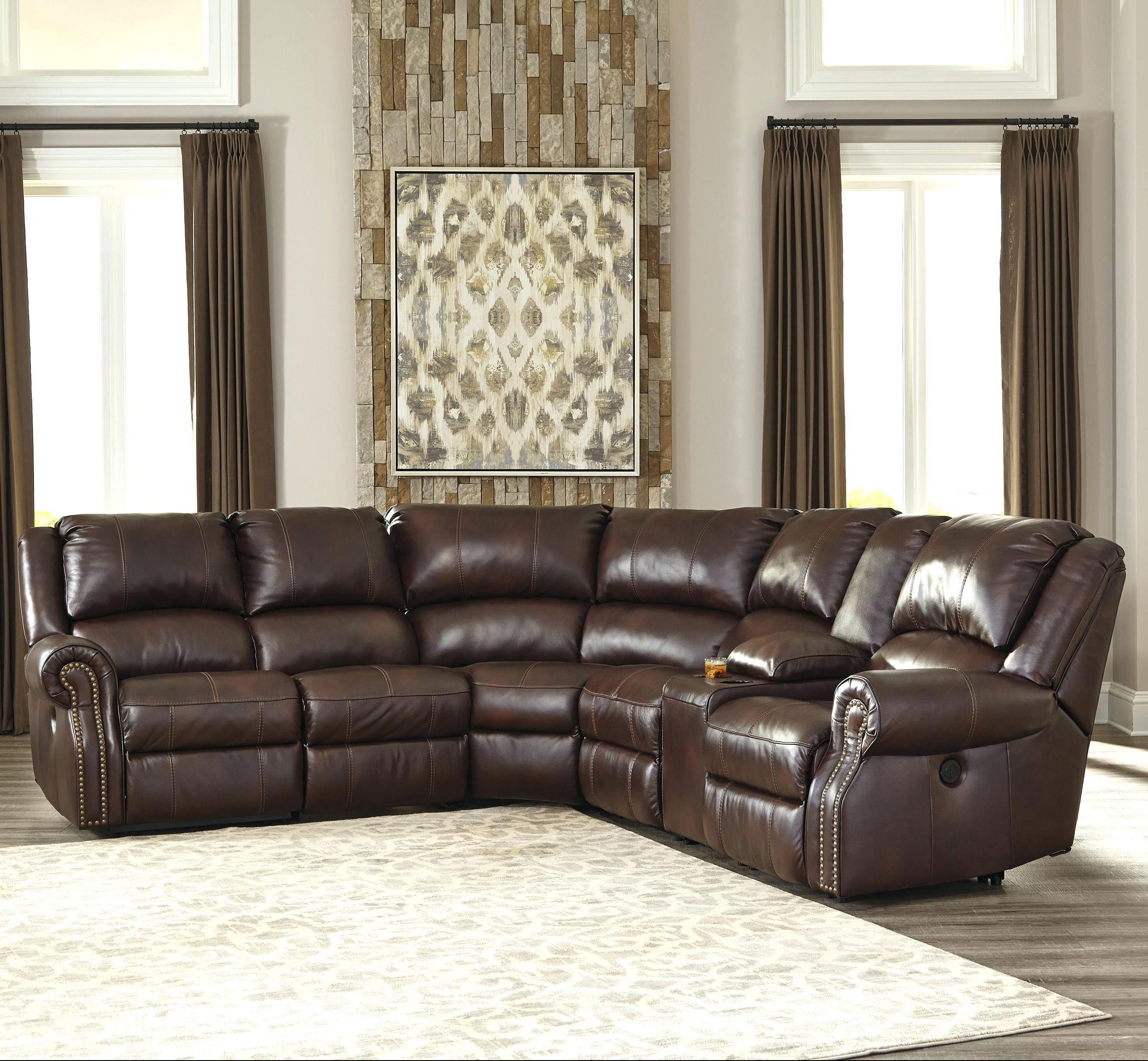 Well Known 6 Piece Leather Sectional Sofas With Regard To Stacey Leather Sectional Sofa (View 12 of 15)