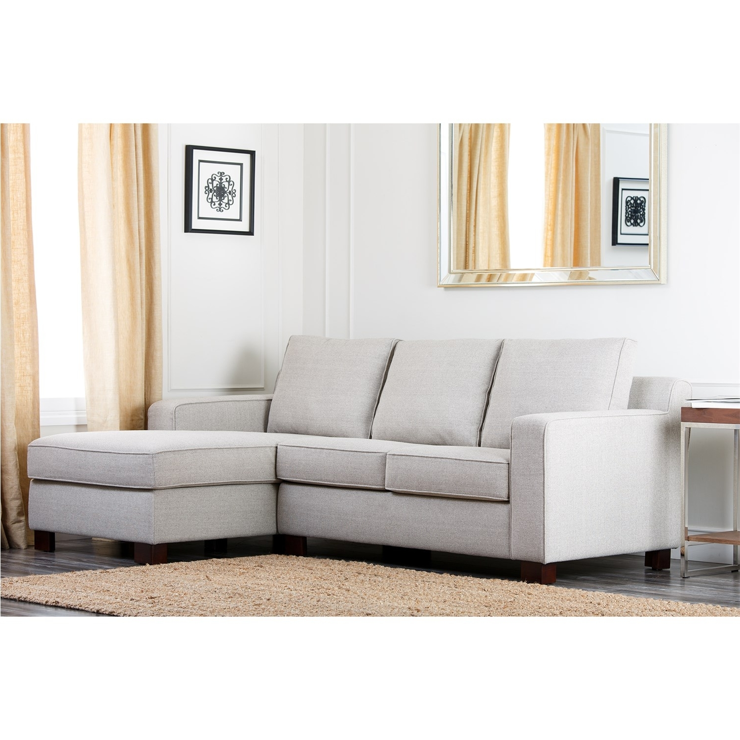 Well Known Abbyson Living Rl 1321 Gry Regina Grey Fabric Sectional Sofa For Regina Sectional Sofas (View 13 of 15)