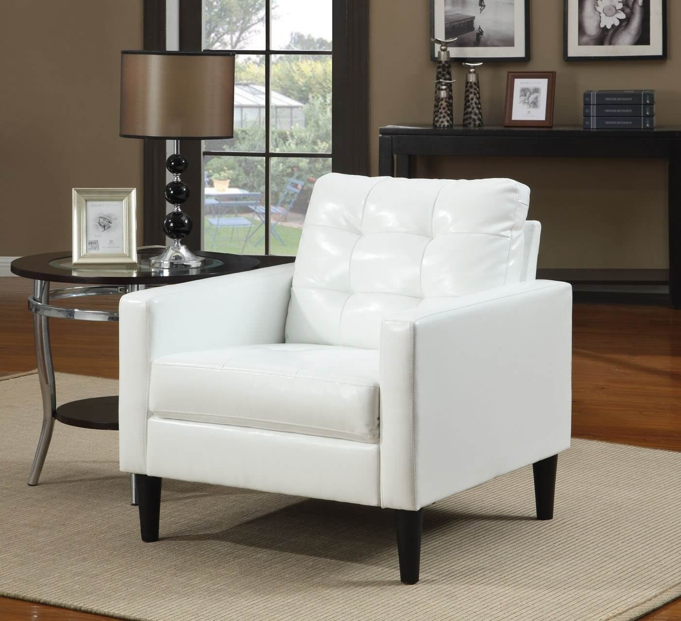 Well Known Accent Sofa Chairs Pertaining To 37 White Modern Accent Chairs For The Living Room (View 14 of 15)