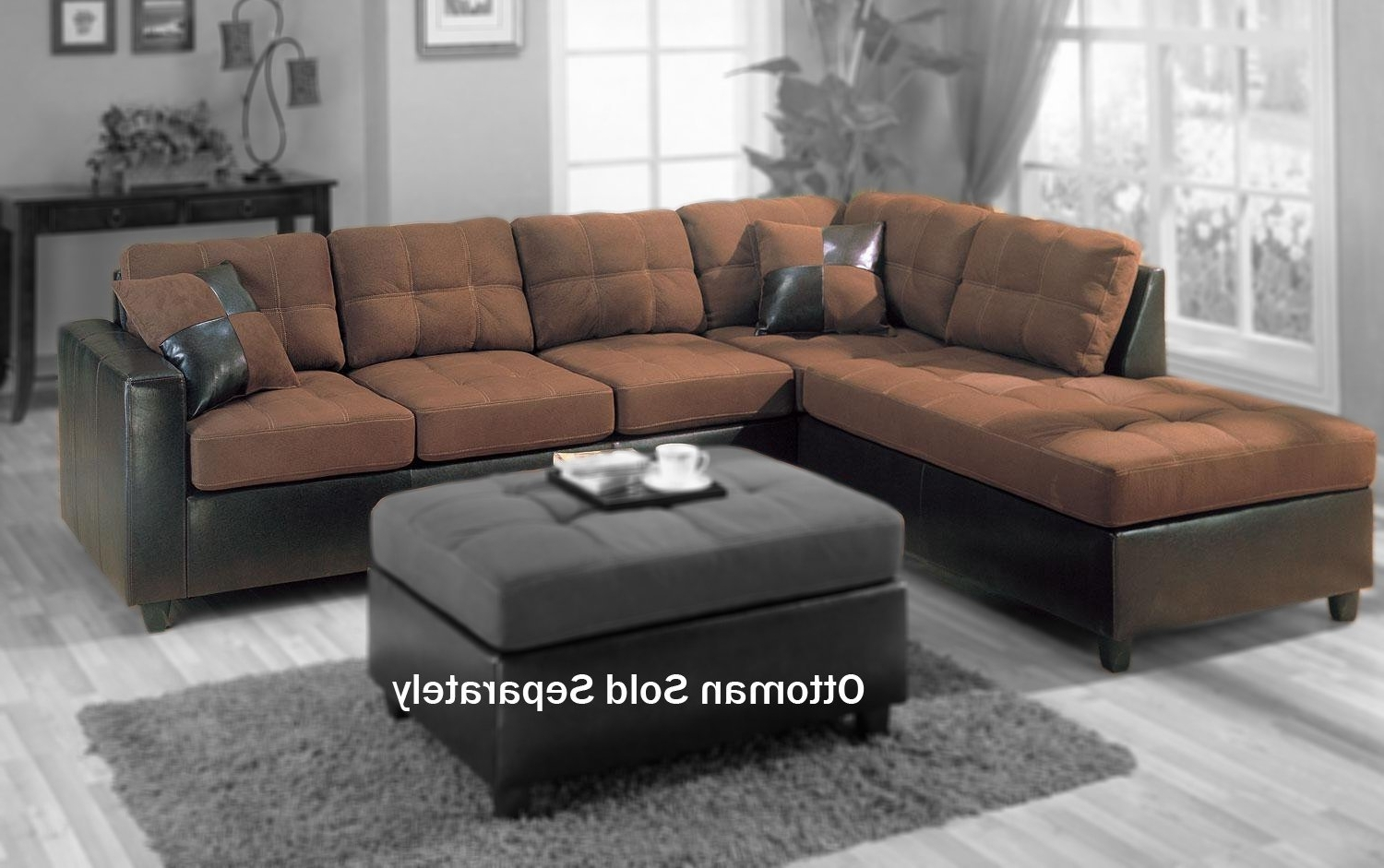 Well Known Amazon: Coaster Fine Furniture 505655Harlow L Sectional Sofa In Chocolate Sectional Sofas (View 9 of 15)