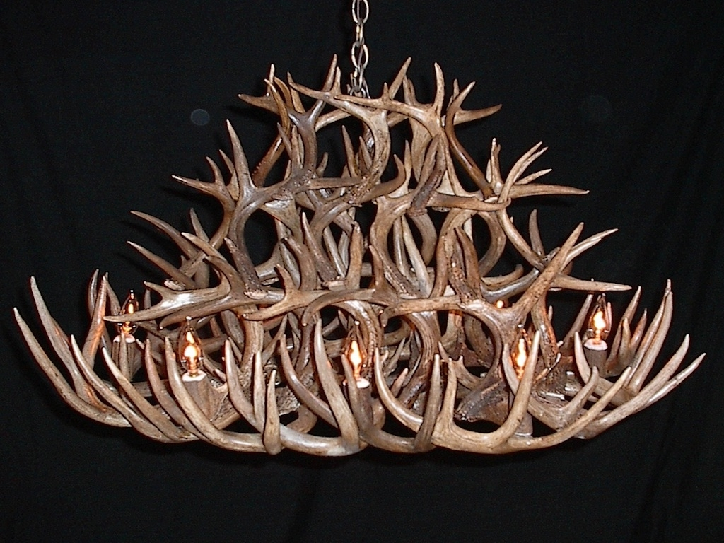 Well Known Antlers Chandeliers Within Antler Furniture Antler Chandeliers Antler Lamp Deer Antler (View 8 of 15)