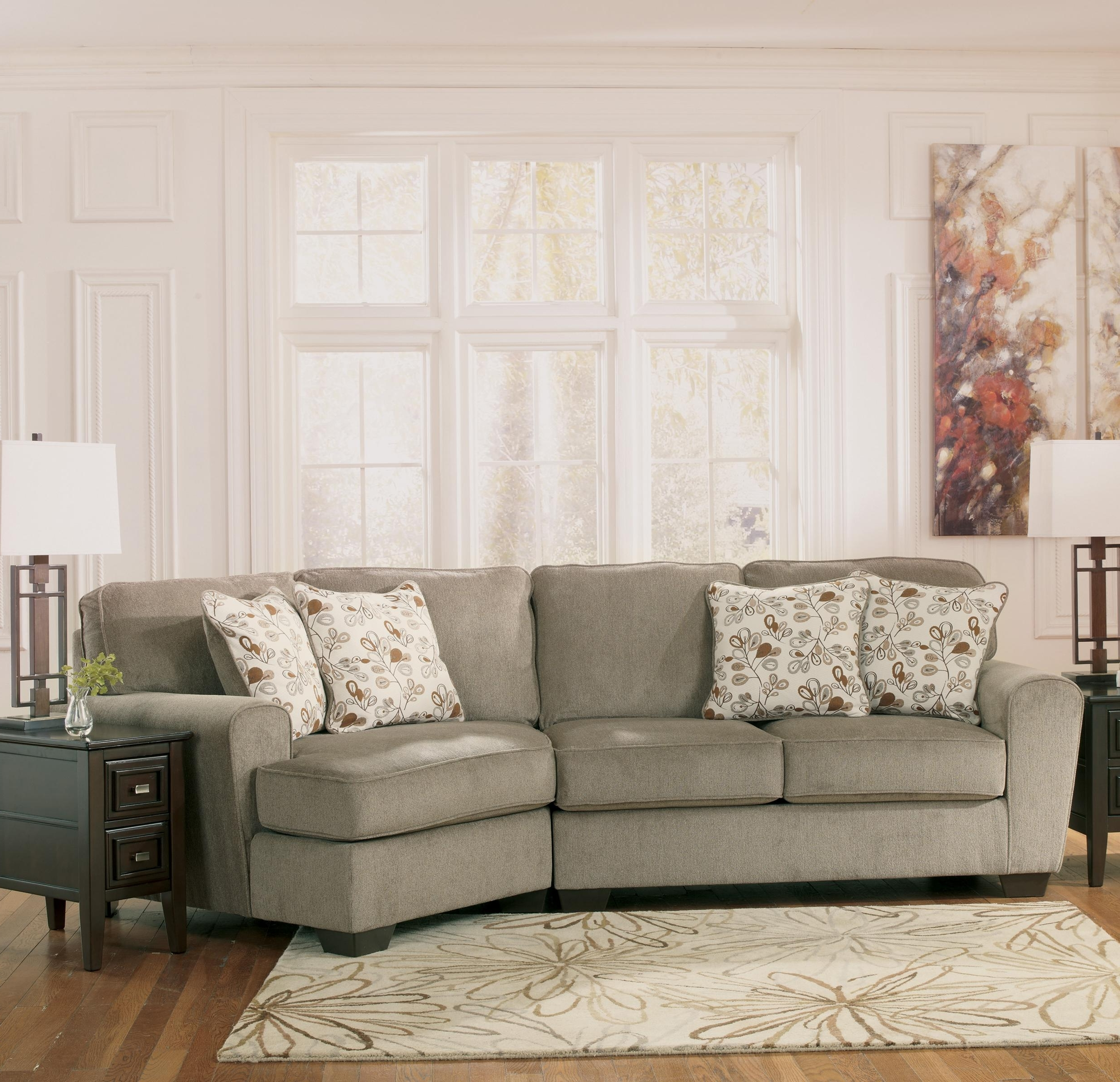 Well Known Ashley Furniture Patola Park – Patina 2 Piece Sectional With Right With Regard To Cuddler Sectional Sofas (View 13 of 15)