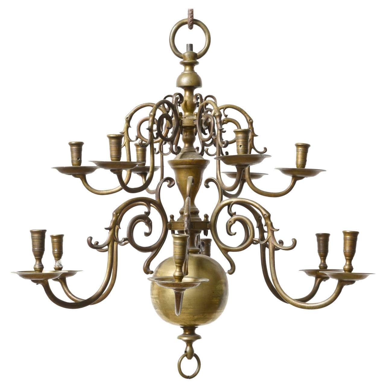 Well Known Baroque Chandelier With Dutch Baroque 18Th Century Bronze Two Tier Chandelier For Sale At (View 2 of 15)