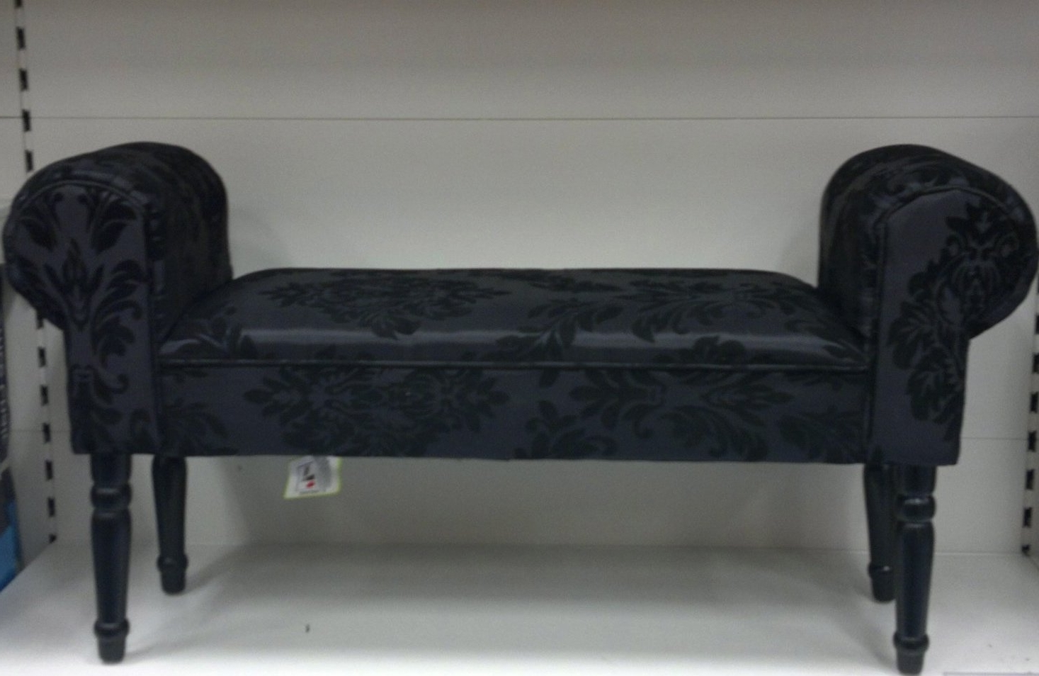 Well Known Black Chaise Lounges Regarding Black Damask Chaise Longue: Amazon.co (View 15 of 15)