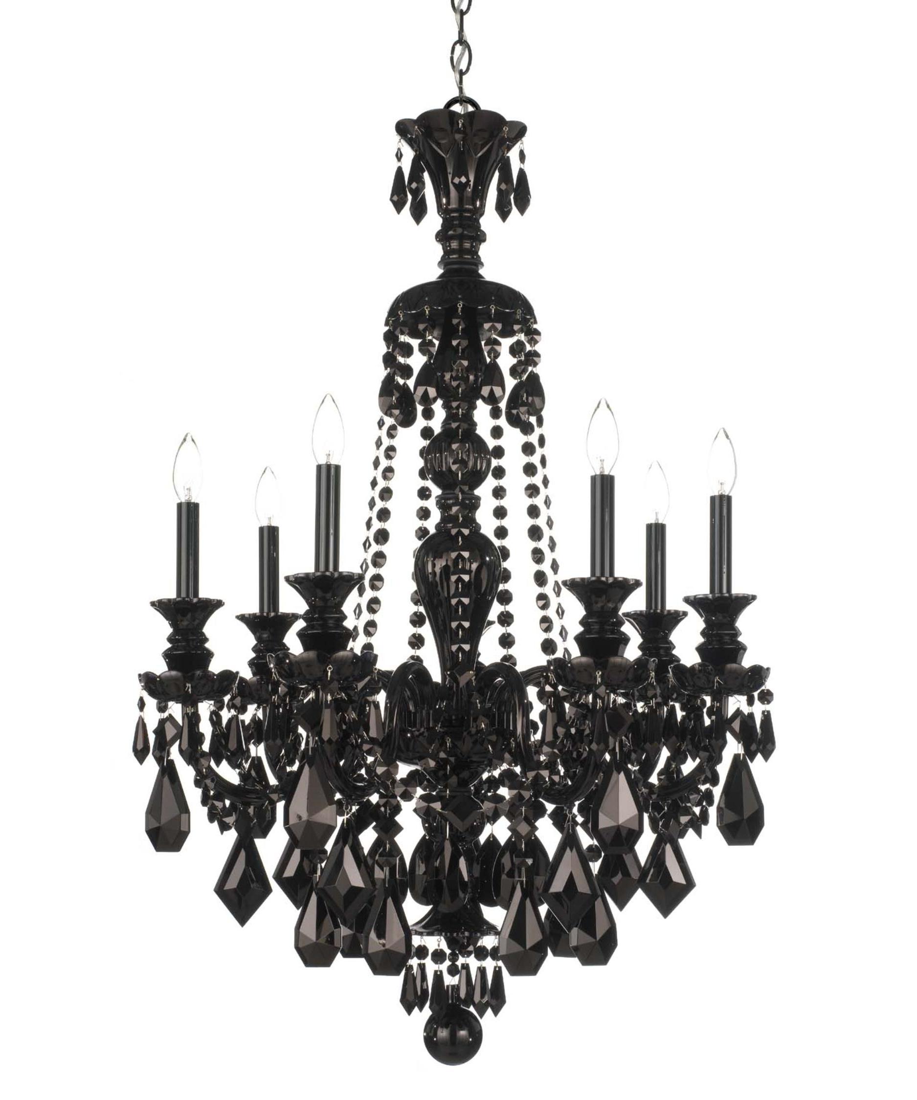 Well Known Black Chandeliers Inside Schonbek 5706Bk Hamilton Black 26 Inch Wide 7 Light Chandelier (View 13 of 15)