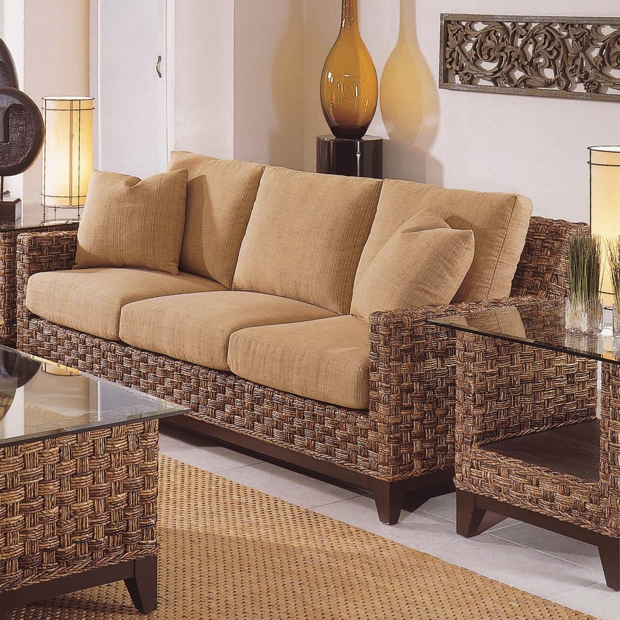 Well Known Braxton Sofas Pertaining To Braxton Culler Tribeca 2960 Modern Wicker Three Seat Queen Sleeper (View 5 of 15)
