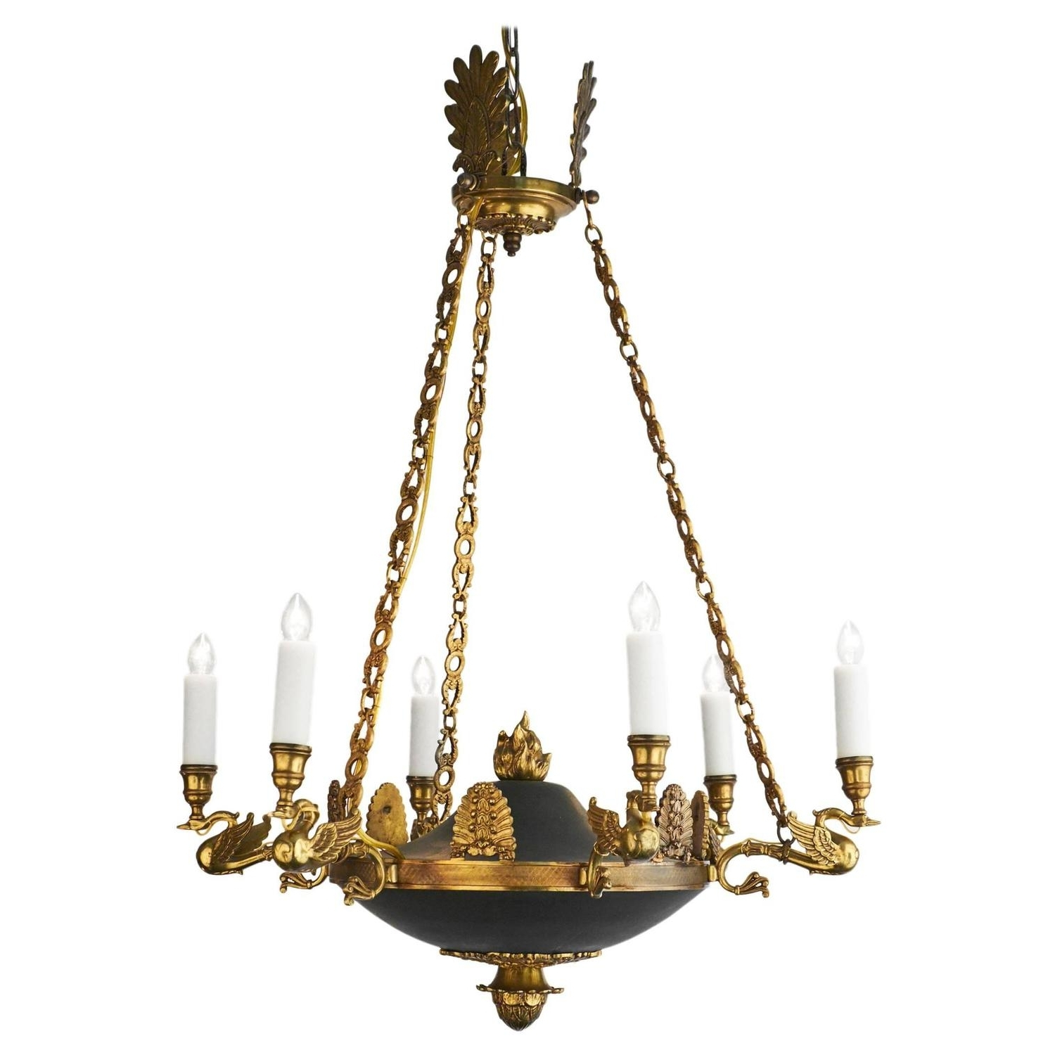 Well Known Bronze Empire Style Chandelier From France – Jean Marc Fray With Regard To Antique Looking Chandeliers (View 13 of 15)