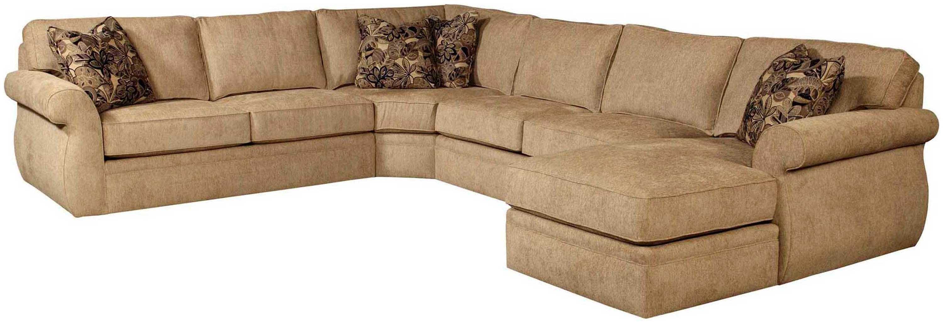 Well Known Broyhill Veronica 4Pc Chaise Sectional With Regard To Sectional Sofas At Broyhill (View 9 of 15)