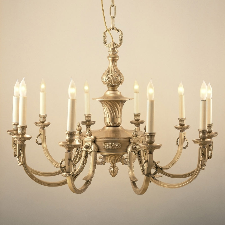 Well Known Candle Chandelier With Regard To Jvi Designs 570 Traditional 32 Inch Diameter 10 Candle Antique Brass (View 13 of 15)