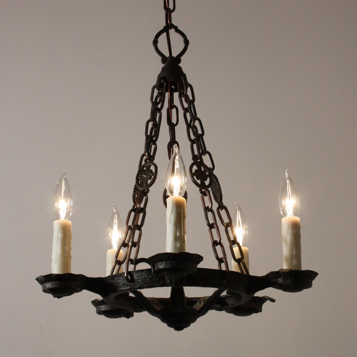 Well Known Cast Iron Chandelier With Regard To Chandelier (View 10 of 15)