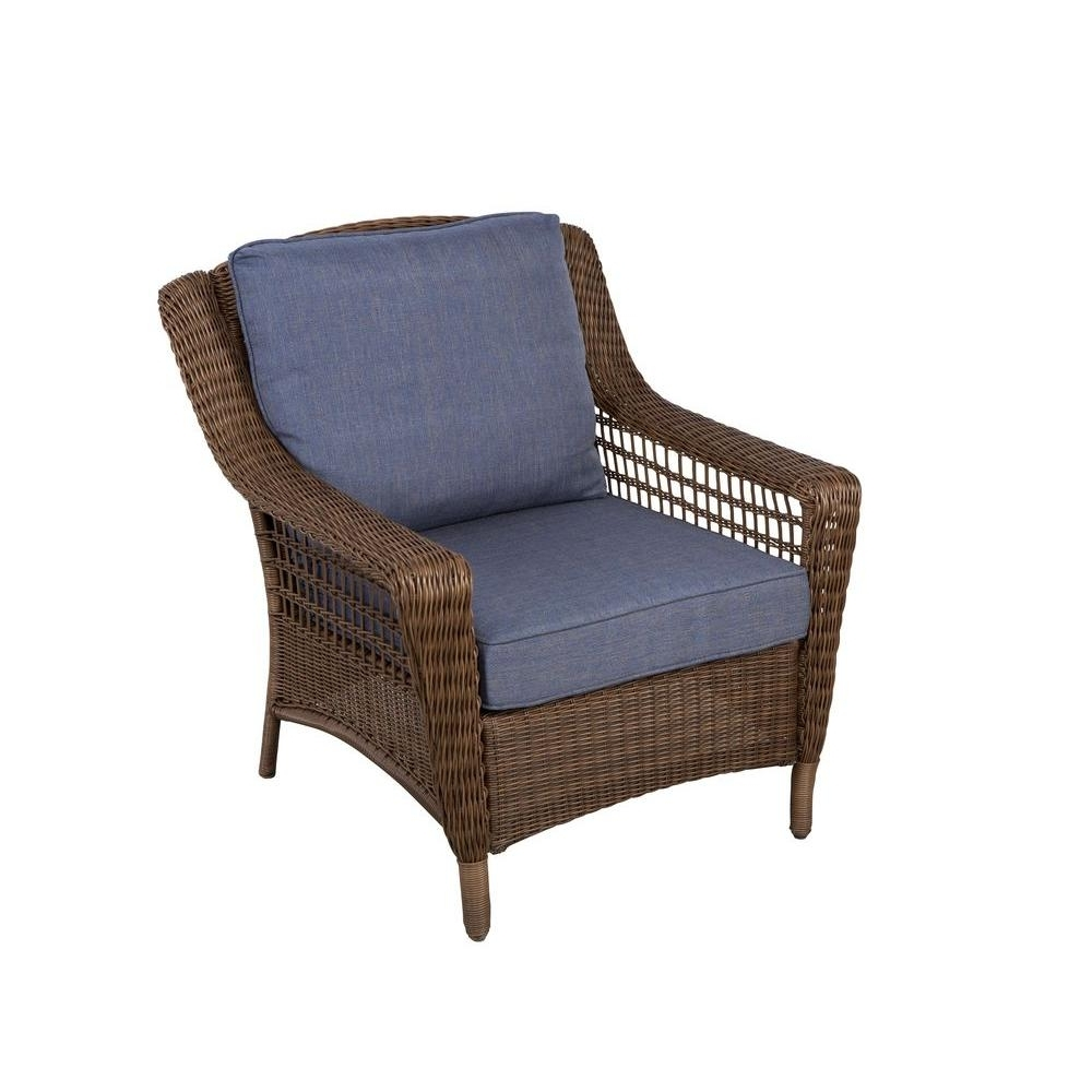 Well Known Chaise Lounge Chairs For Sunroom Intended For Hampton Bay Spring Haven Brown All Weather Wicker Patio Lounge (View 7 of 15)