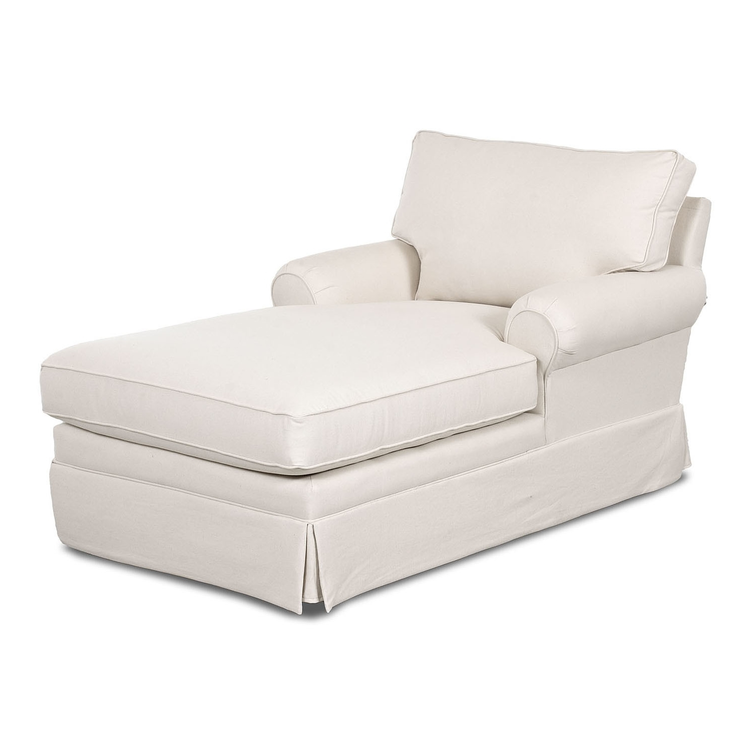 Well Known Chaise Slipcovers Throughout Chair Slip Cover (View 6 of 15)