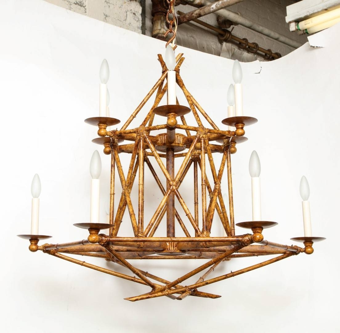 Well Known Chandeliers Design : Fabulous Italian Chinoiserie Faux Bamboo Gilt Inside Chinoiserie Chandeliers (View 10 of 15)