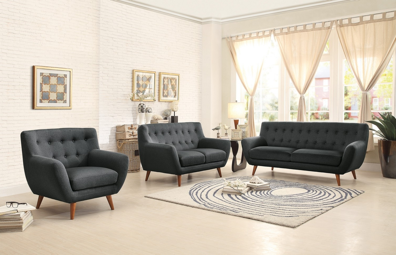 Well Known Charcoal Grey Sofas Within Sofa : Gray Sofa Set Light Grey Sofa Aarons Sectionals Sofas (View 6 of 15)