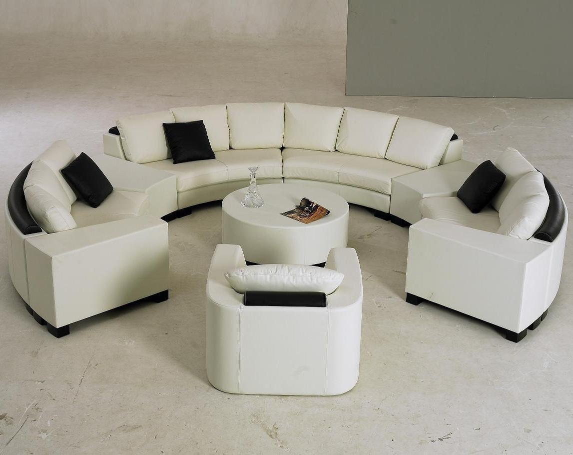 Well Known Circular Sofa Chairs Regarding Sectional Sofa Design: Elegant Semi Circular Sectional Sofa Semi (View 15 of 15)