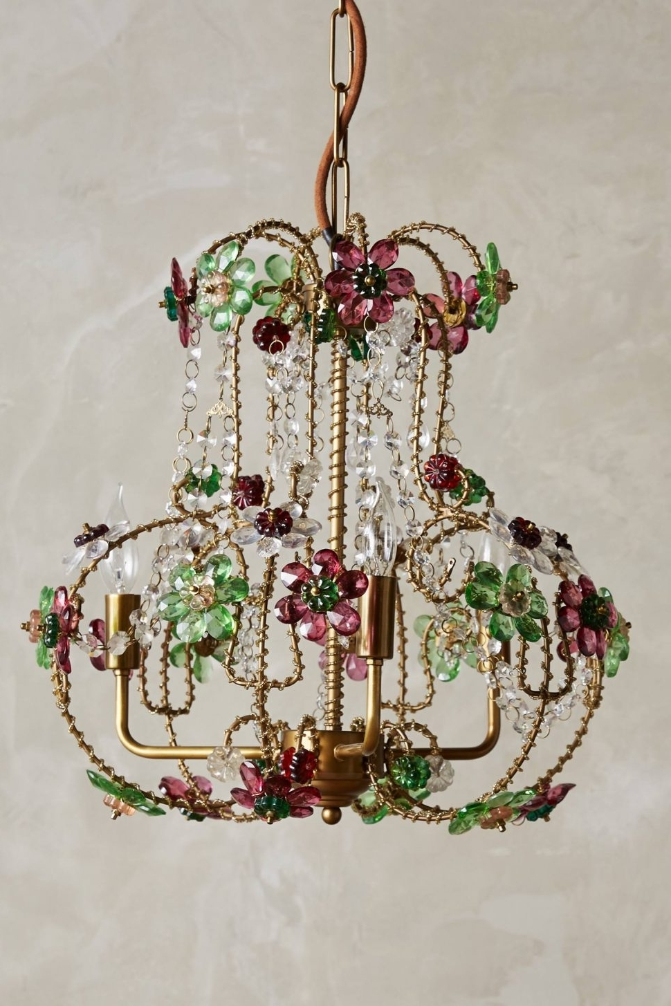 Well Known Coloured Glass Chandelier For Chandeliers Design : Wonderful Colorful Chandeliers Laurel Loves Via (View 11 of 15)