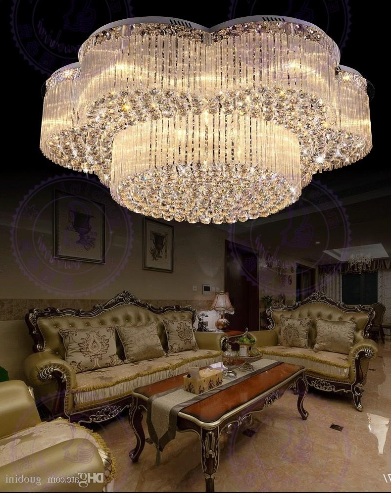 Well Known Contemporary Large Chandeliers In New Design Flush Mount Contemporary Large Chandeliers Crystal Lights (View 13 of 15)