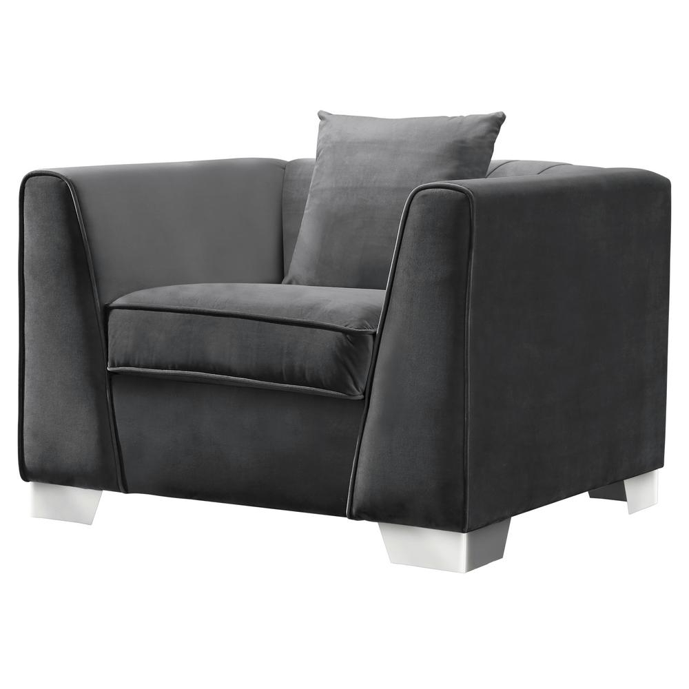 Well Known Contemporary Sofa Chairs With Regard To Cambridge Armen Living Cambridge Contemporary Sofa Chair In (View 6 of 15)
