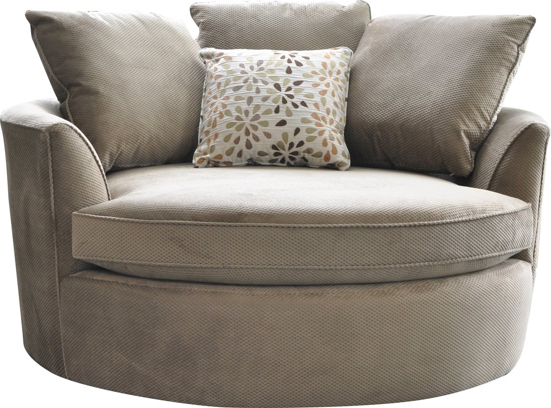 Well Known Cuddler Swivel Sofa Chairs For Laurel Foundry Modern Farmhouse Marta Cuddler Chair And A Half (View 9 of 15)