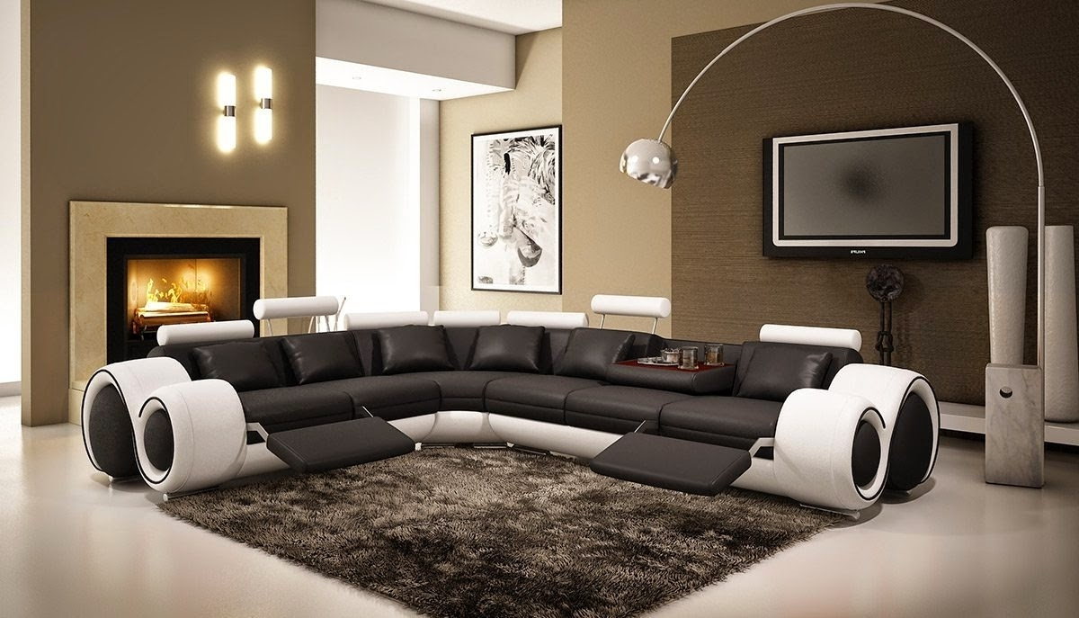 Well Known Curved Sectional Sofas With Recliner Intended For Curved Sofas And Loveseats Reviews: Curved Sectional Sofa With (View 9 of 15)