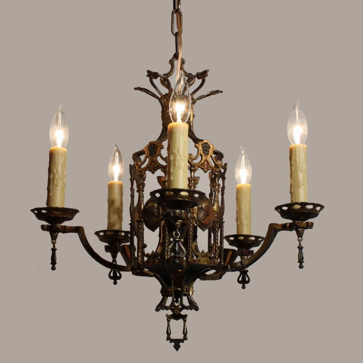 Well Known Egyptian Chandelier Intended For Stunning Antique Egyptian Revival Figural Chandelier With Cameos, C (View 5 of 15)