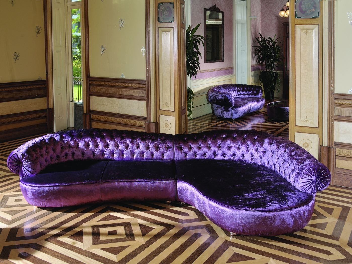 Well Known Elly Chaise Longue Rich Purple Large Sofa. Just Beautiful (View 14 of 15)