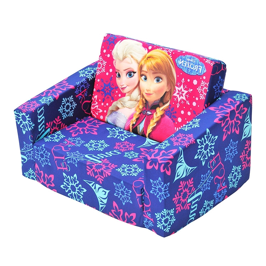 Well Known Flip Out Sofa For Kids Within Disney Frozen Flip Out Sofa (View 10 of 15)
