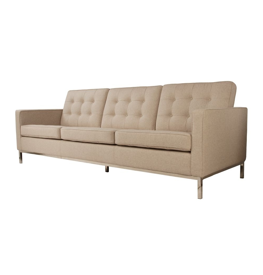 Well Known Florence Grand Sofas Intended For Replica Florence Knoll Wool 3 Seater Sofaflorence Knoll – Matt (View 15 of 15)