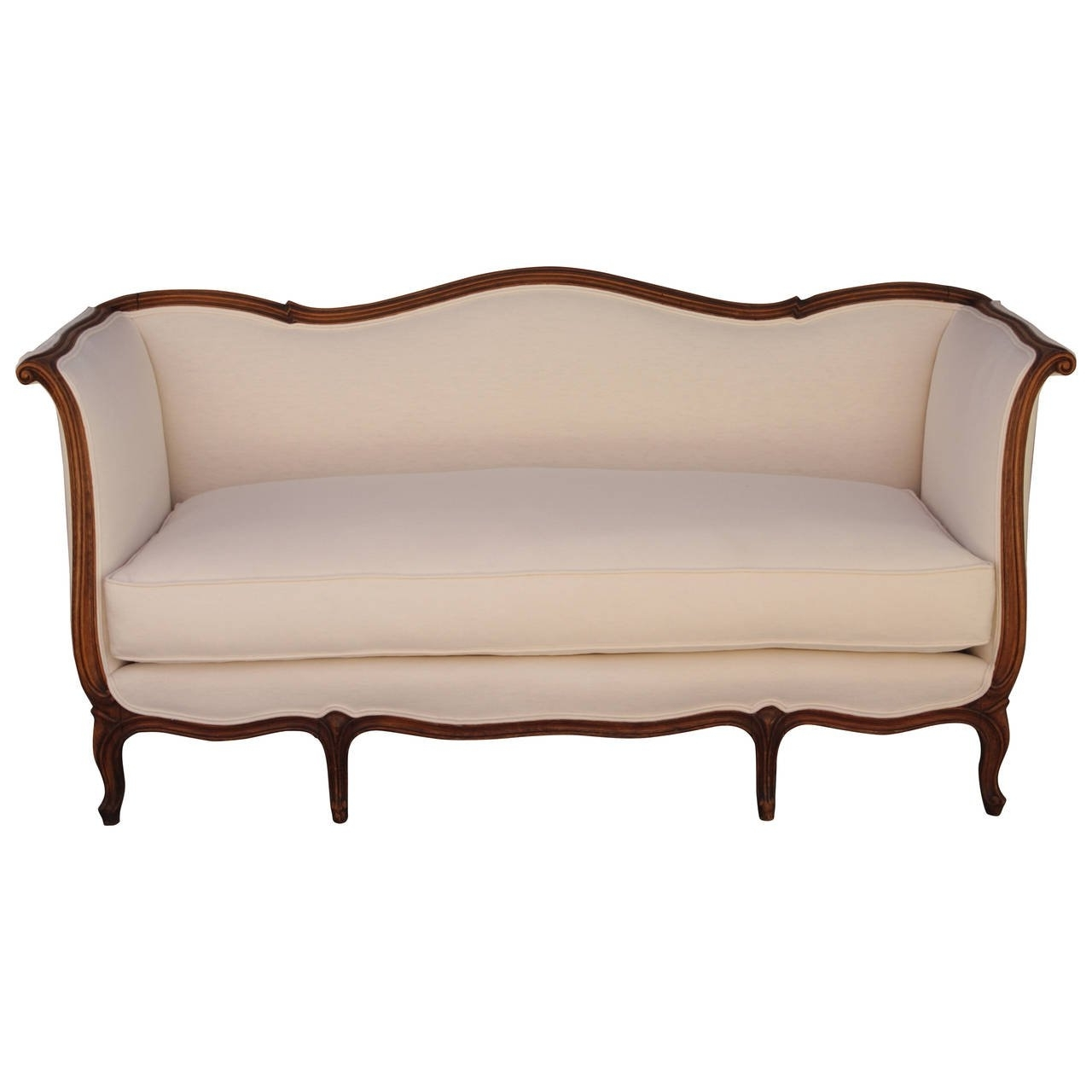 Well Known French Louis Xv Style Sofa With Linen Upholstery At 1Stdibs With Regard To French Style Sofas (View 5 of 15)