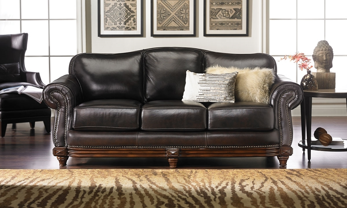 Well Known Full Grain Leather Sofas Intended For Italian Leather Reclining Sofa Costco Furniture In Store 2016 Full (View 13 of 15)