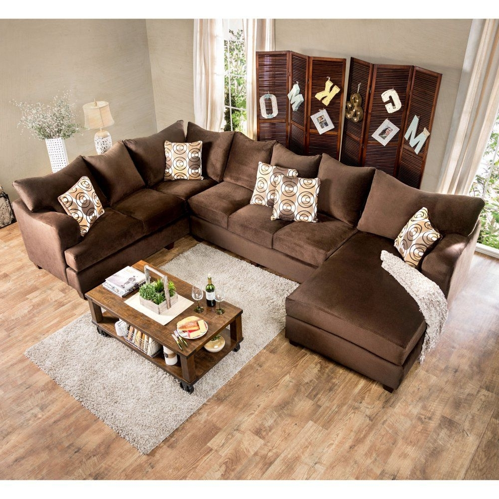 Well Known Furniture Of America Hamilton Sectional Sofa With Chaise – Welcome With Regard To Hamilton Sectional Sofas (View 13 of 15)