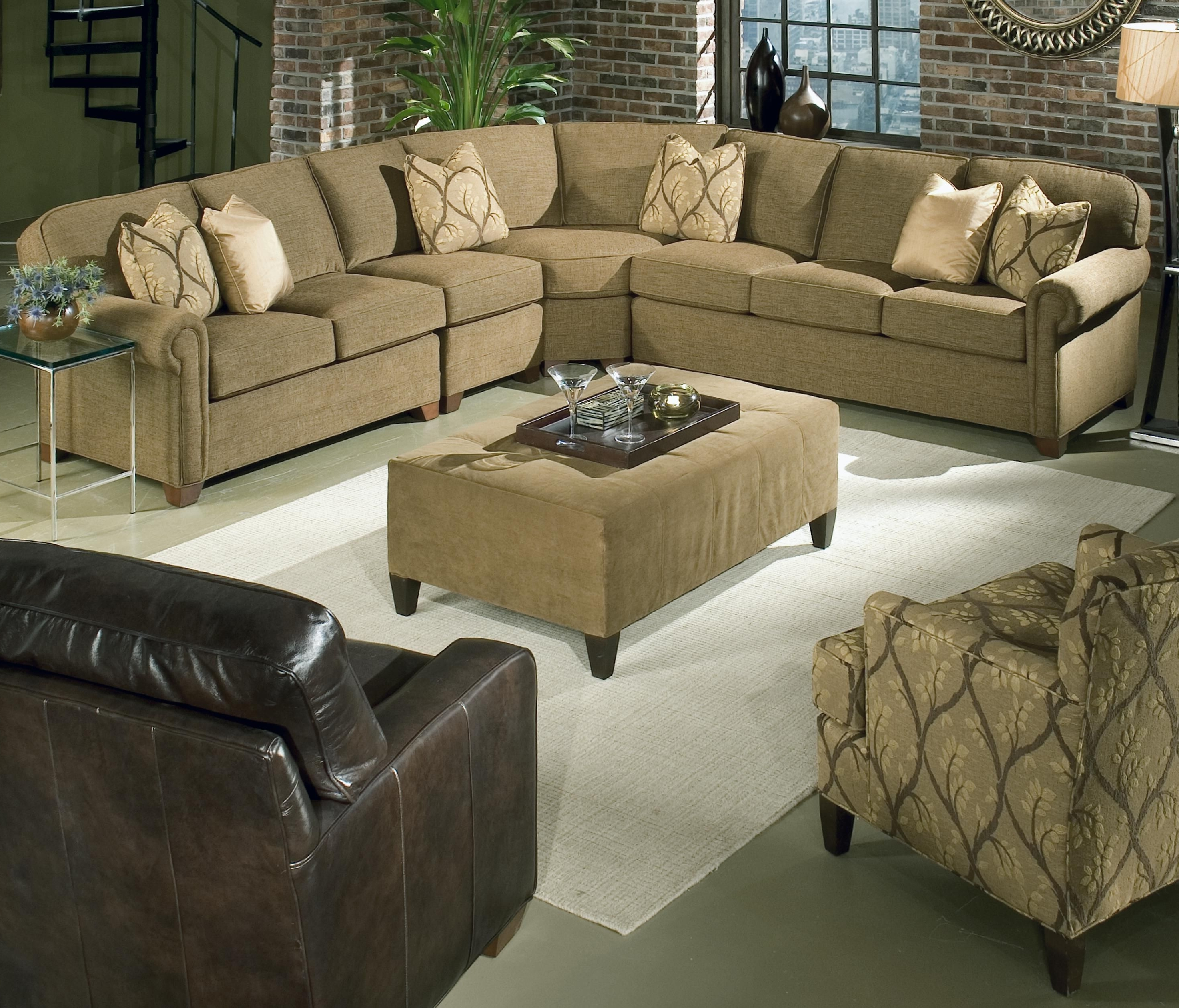 Well Known Hickory Nc Sectional Sofas Within Brighton 4 Piece Sectionalking Hickory (View 13 of 15)