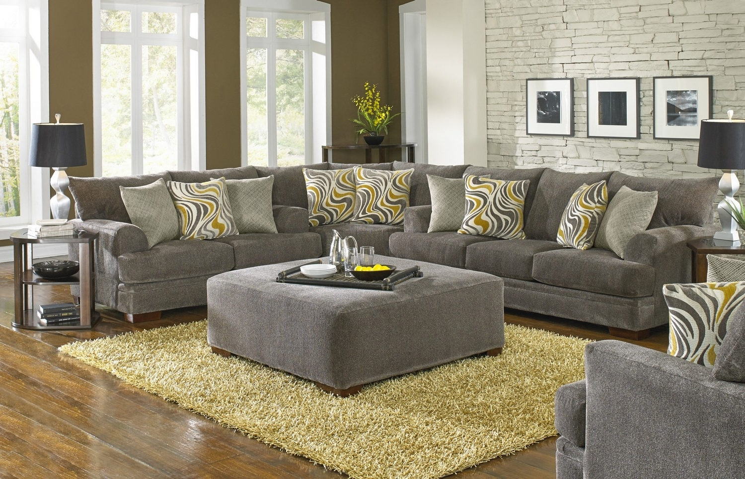 Well Known Jackson Crompton Sofa Sectional Sofa Set – Pewter Jf 4462 Sect Set In Dayton Ohio Sectional Sofas (View 14 of 15)