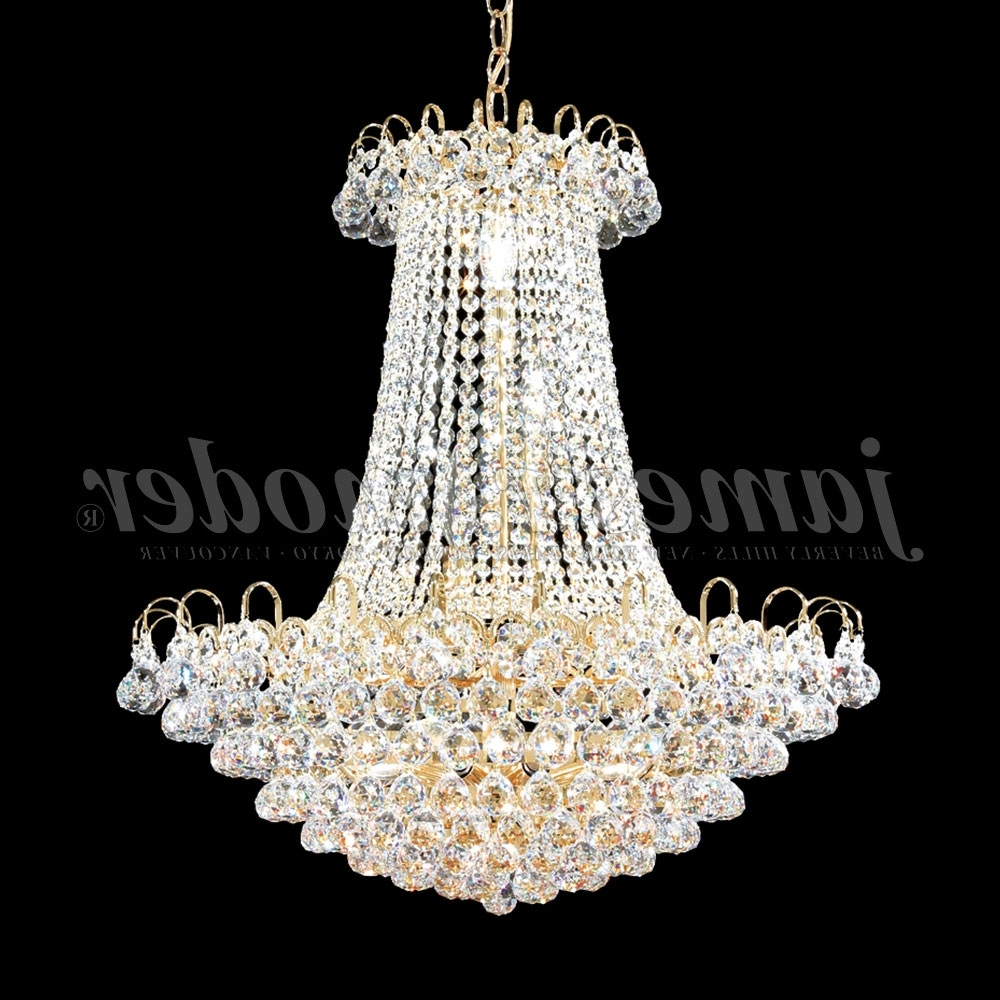 Well Known James Moder 94805G22 Jacqueline Crystal Gold Chandelier Lighting In Crystal Gold Chandelier (View 14 of 15)