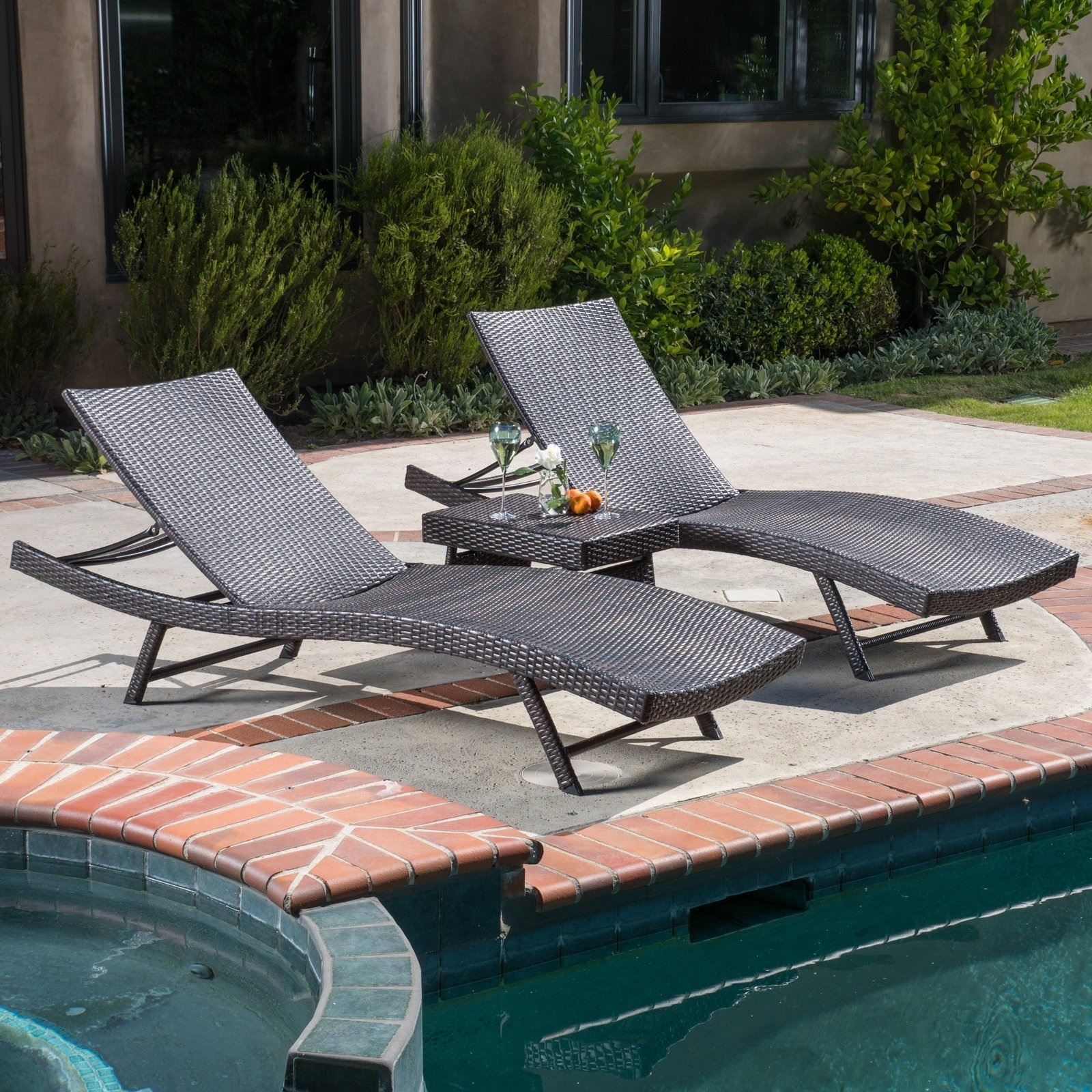 Well Known Keter Pacific Sun Chaise Lounger Set With Rio Table (View 12 of 15)