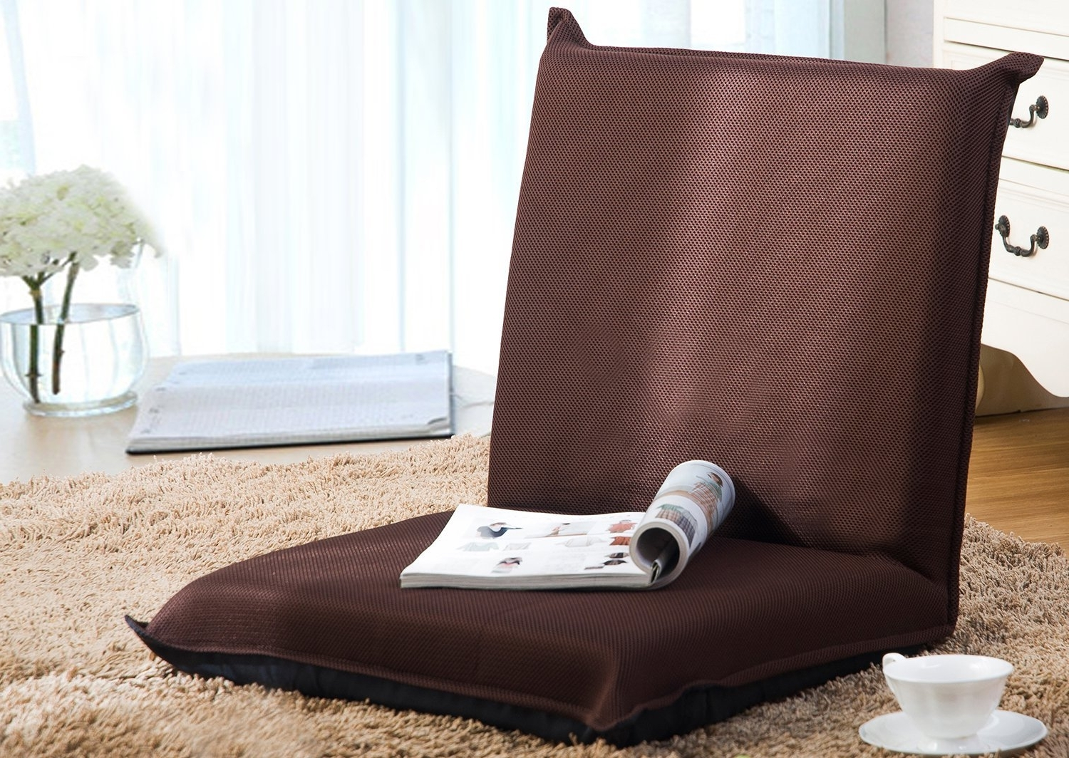 Well Known Lazy Sofa Chairs With Regard To Amazon: Merax Floor Chair Lazy Man Sofa Chair Home Essential (View 14 of 15)