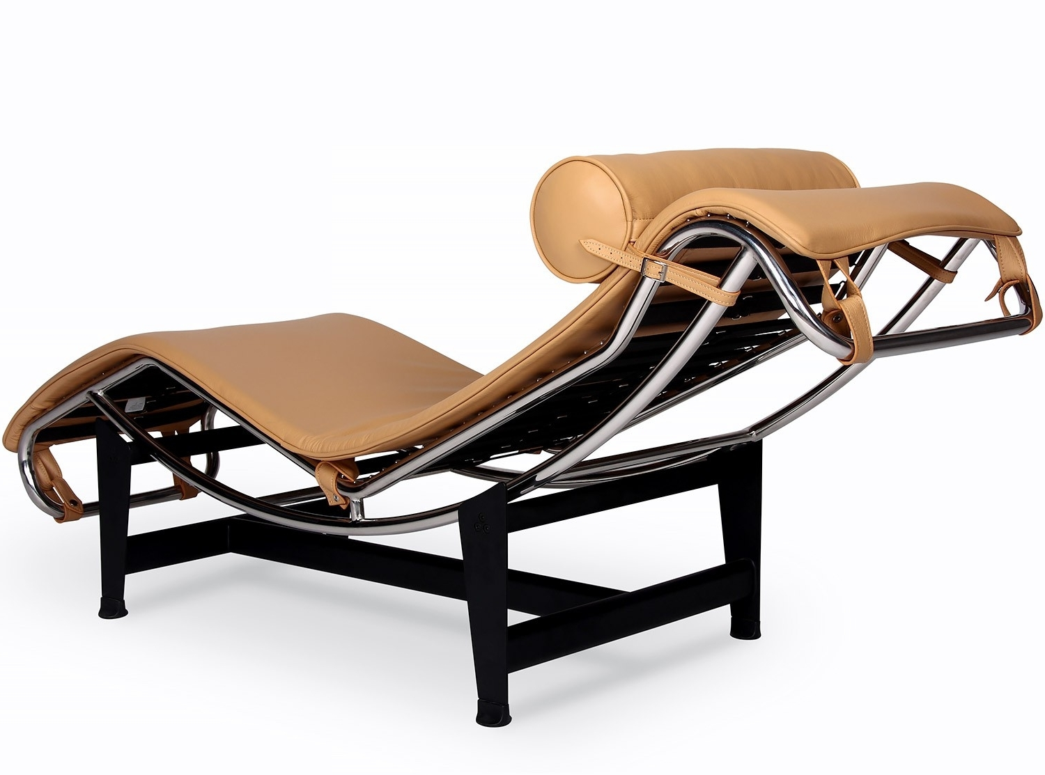Well Known Le Corbusier Lc4 Chaise Longue (Platinum Replica) Pertaining To Corbusier Chaises (View 6 of 15)