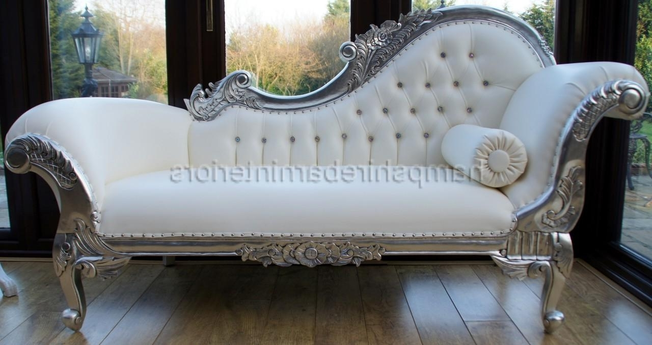 Well Known Leather Chaise Lounge Sofas Intended For I'd Like To Have An Antique Fainting Couch Under The Window In The (View 14 of 15)